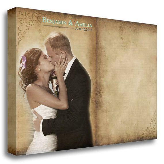 Canvas Wedding Guest Book Alternative Wedding by ArttecPrints, $130.00