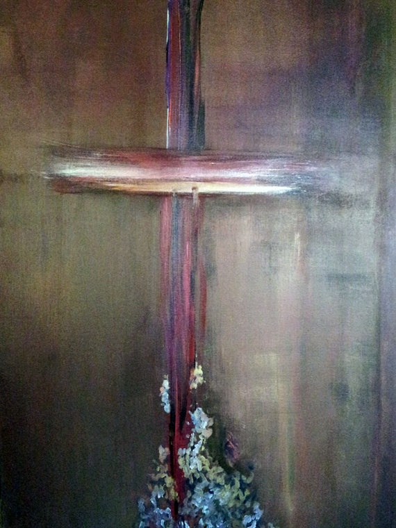 17 best images about art crosses on pinterest acrylic for Cross paintings on canvas