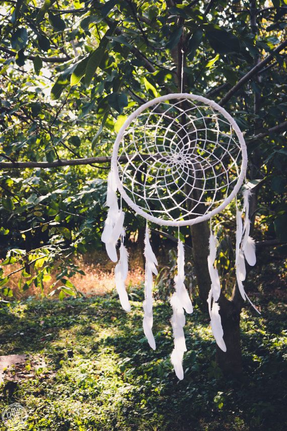 READY TO SHIP  Extra Large Dream Catcher for Wedding by bohonest #dream #catcher #boho #nest #nature #natural #big #huge #giant #large #white #dreamcatcher