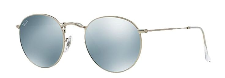 Ray-Ban Round Flash Lenses Silver, RB3447
