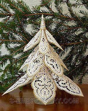 Battenberg Lace Christmas Tree