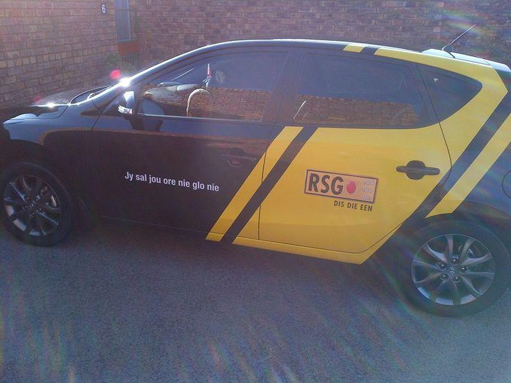 RSG yellow on black