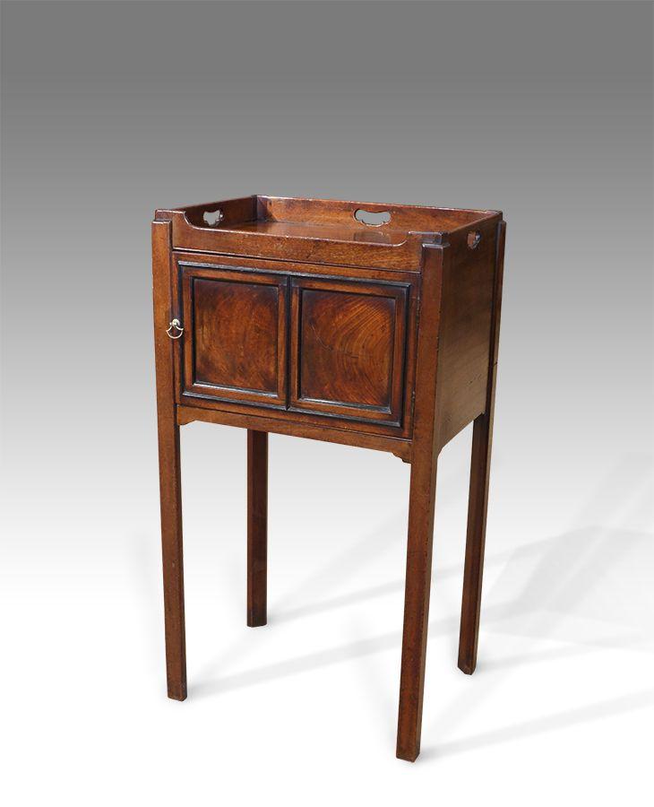Georgian Pot Cupboard Antique Bedside Tables Cupboard Panel Doors