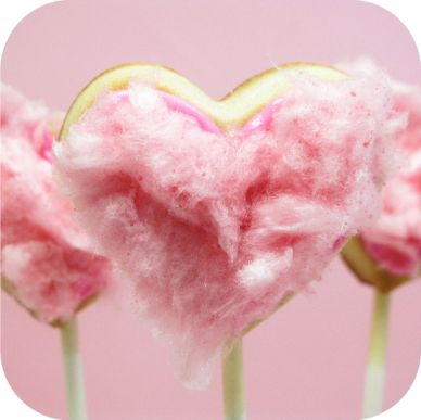Cotton candy fuzzy heart cookies!