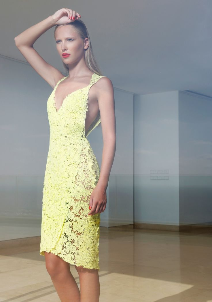 Lime lace dress
