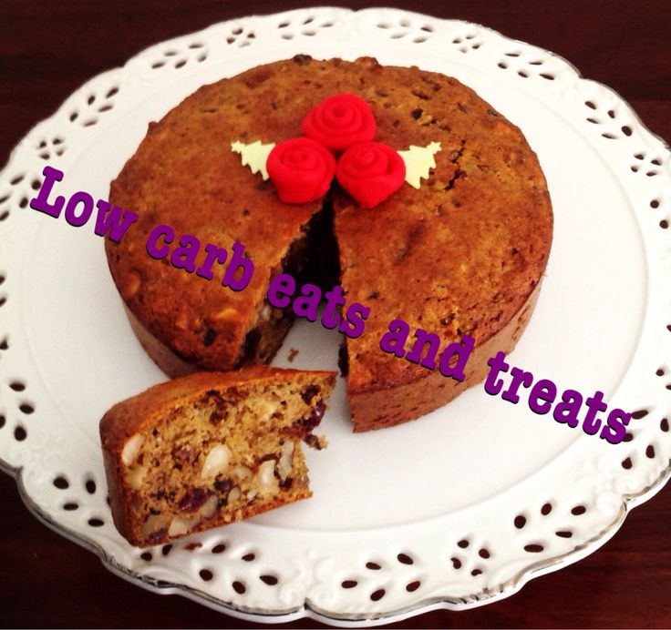 CHRISTMAS CAKE:  INGREDIENTS:  (This makes a very small cake.) 18cm round. 1+1/2 cups almond flour 1/2 teaspoon salt 1/2 teaspoon bicarbonate of soda 1/2 teaspoon cinnamon 1/2 teaspoon ginger 1/4 teaspoon nutmeg **OR 1 teaspoon mixed spice** 1/4 cup sweetener 1 /2 cup dried berries (this you can do yourself) 1/4 cup store bought dried cranberries - sweetened with apple juice. 1/2 cup walnuts 1/2 cup Brazil nuts **OR substitute walnuts for pistachio** I like to use the pistachio nuts because…