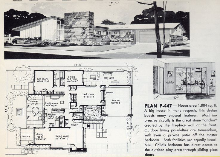 very cool 1884 sq ft 3 bdrm home with entertaining space find this pin and more on midcentury floor plans - Mid Century Modern Home Plans