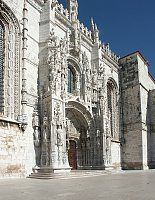 Images of Jeronimos Monastery, Lisbon, Portugal.