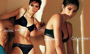 Kendall Jenner surrounded by male models in Calvin Klein Underwear ad | Daily Mail Online