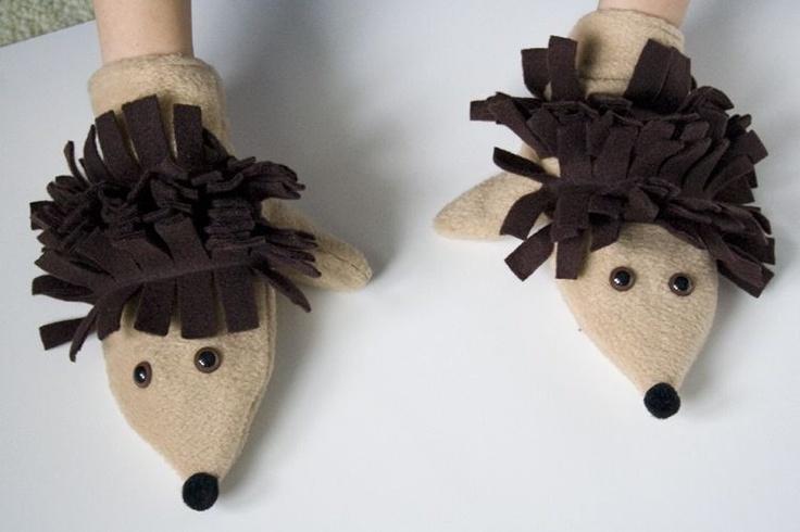 Hedgehog Critter Mittens