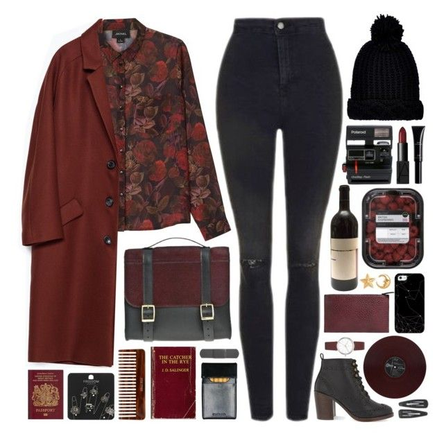 """beanie // autumnal"" by rosemarykate ❤ liked on Polyvore featuring Monki, Topshop, Danielle Foster, Zara, Violeta by Mango, (MALIN+GOETZ), River Island, Miss KG, NARS Cosmetics and LYRALOVESTAR"