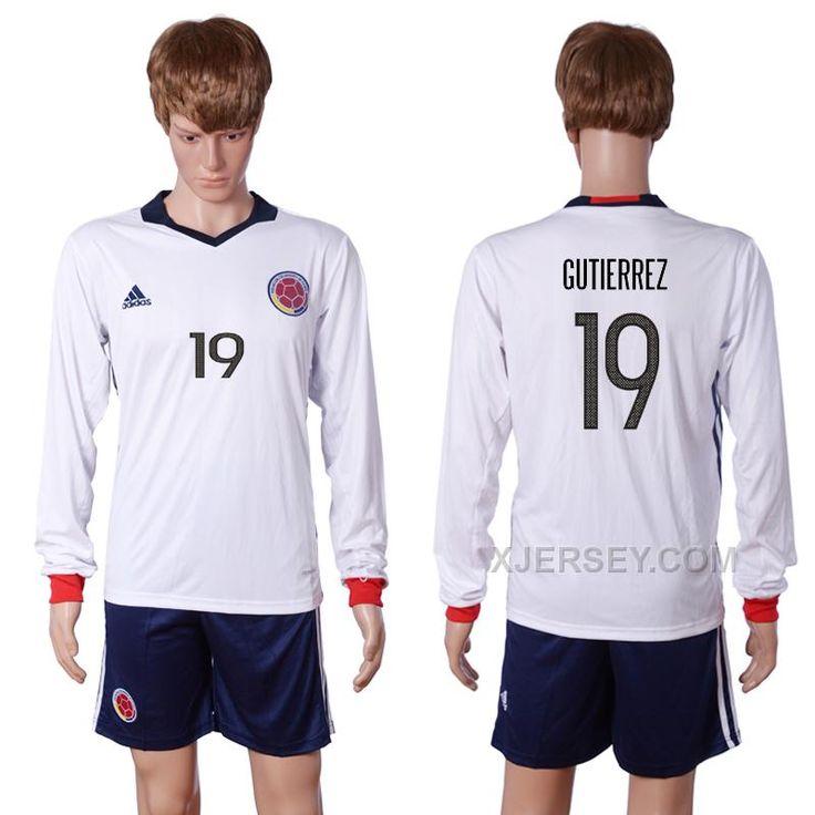 http://www.xjersey.com/colombia-19-gutierrez-2016-copa-america-centenario-long-sleeve-soccer-jersey.html COLOMBIA 19 GUTIERREZ 2016 COPA AMERICA CENTENARIO LONG SLEEVE SOCCER JERSEY Only $35.00 , Free Shipping!