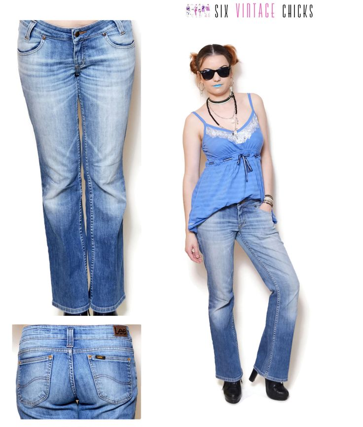low rise jeans women lee jeans straight leg denim pants vintage jeans 90s clothing Women Clothing Minimalist womens Trousers rocker pants M by SixVintageChicks on Etsy