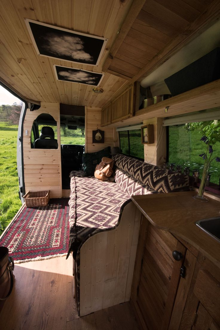 Macintyre's van conversion is special. From the warm colours and impeccable wordwork to the unique fabric and artwork a and handmade mirror. Hire him for yourself!   www.quirkycampers.co.uk