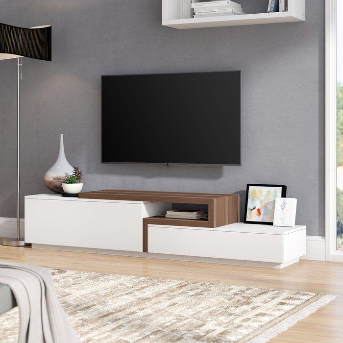 Charleroi 75 Tv Stand Living Room Tv Stand Tv Stand Decor Living Room Tv Unit Designs