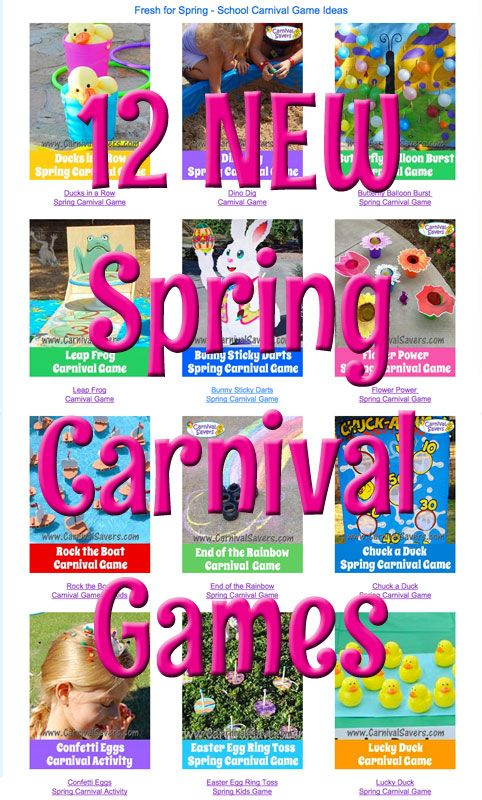 12 NEW Spring Carnival Games!