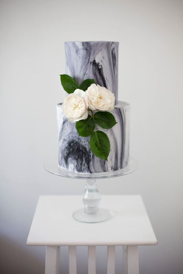Marble inspired cake by Sweet Bakes ~ we ❤ this! moncheribridals.com