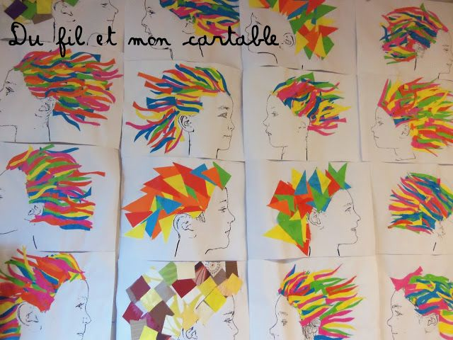 Du fil et mon cartable : A la manière du  DADA de l'enfant Terrible : Cheveux au vent