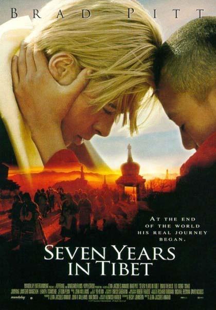 SETTE ANNI IN TIBET (Un film di Jean-Jacques Annaud. Con Brad Pitt, David Thewlis, Dorjee Tsering - USA 1997