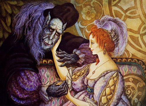 Beauty and the Beast illustration by Errol Le Cain.