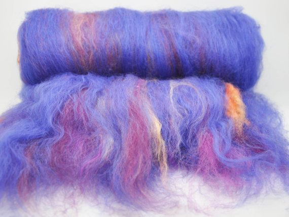 No Shrinking Violet  Carded Batt by HomespunFromDevon on Etsy, £8.00