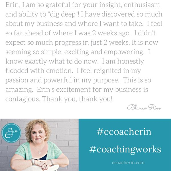 Hear from women about their business coaching experience.    www.ecoacherin.com/testimonials