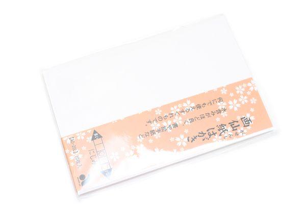 Akashiya Etegami Postcard Size Paper - Gasen Paper - Pack of 10 Sheets