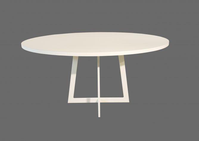 Moderne Witte Eettafel.Carzello Moderne Ronde Tafel Eettafel Witte Eettafel En