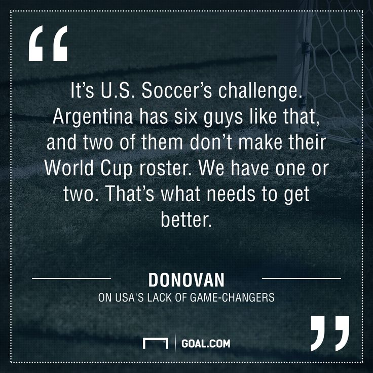 Does U.S need more game-changing stars? Landon Donovan thinks so