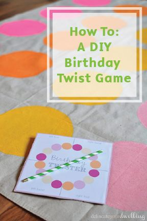 Bring your A-game for this year's birthday celebration. This DIY Birthday Twist Game is a simple way to guarantee hours of good, clean fun. Catch  any spills of your colorful paint with Bounty Paper Towels!