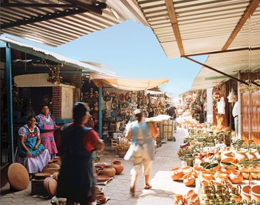 Cactus, grasshoppers, anything goes at Oaxaca's markets