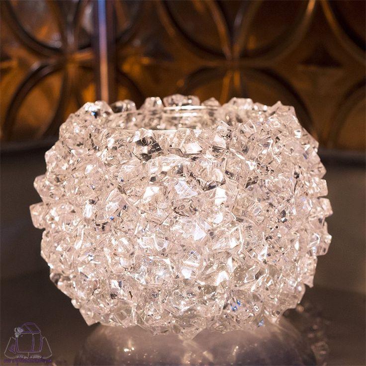 DIY $5 Ice Crystal Votive