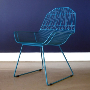 Peacock Blue Farmhouse Chair by Bend // good grief, this is lovely. and 25% off. $335 on fab through the week.