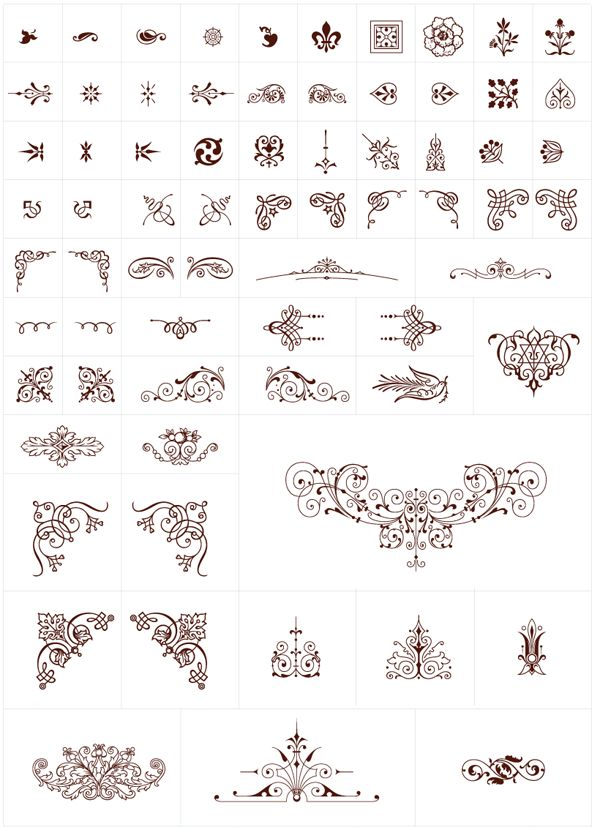 Free Flourish Ornament Graphics