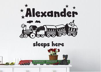 Kids Personalised Sticker - Train set