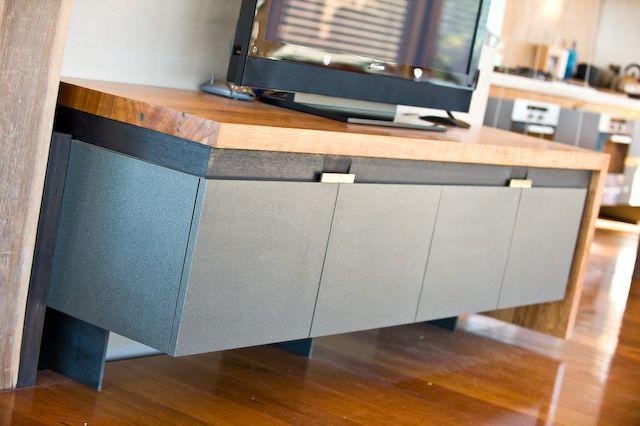 Dining Table, Recycled Timber, Timber Veneer, Iron Bark and an Ocean View… | Blue Horizon Interiors