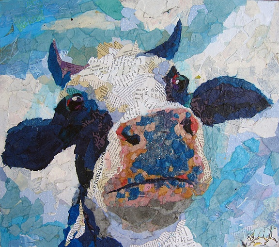 17 Best Images About Cow Art On Pinterest A Cow Canvas