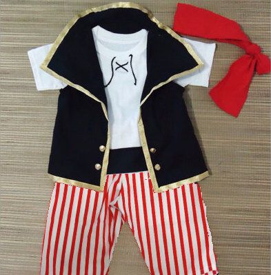 Pirates costume- Pirate Birthday Party- Disney Cruise Pirates - Pirates Outfit 12M to 7Years by LoopsyBaby on Etsy https://www.etsy.com/listing/195663307/pirates-costume-pirate-birthday-party