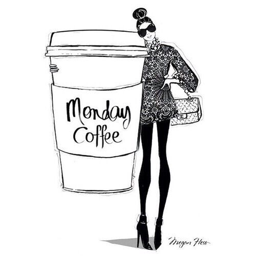 """Sunday morning coffee is about pleasure, whereas Monday morning coffee is about necessity."" ~Unknown Author Art by Megan Fless"