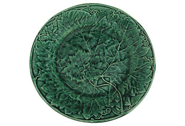Davenport Majolica Green Plate on OneKingsLane.com