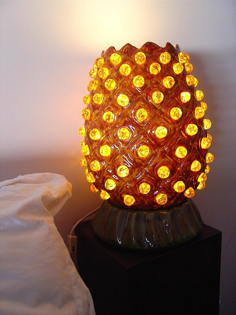 new vintage pineapple lamp by crankbunny