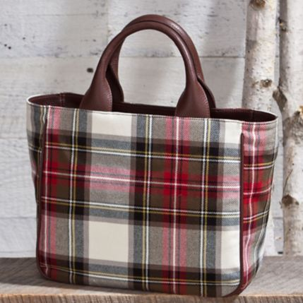 Tartan Handbag of Florentine Leather