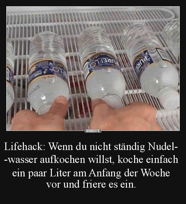 Lifehack: Wenn du nicht ständig Nudelwasser aufkochen willst..   Lustige Bilder, Sprüche, Witze, echt lustig