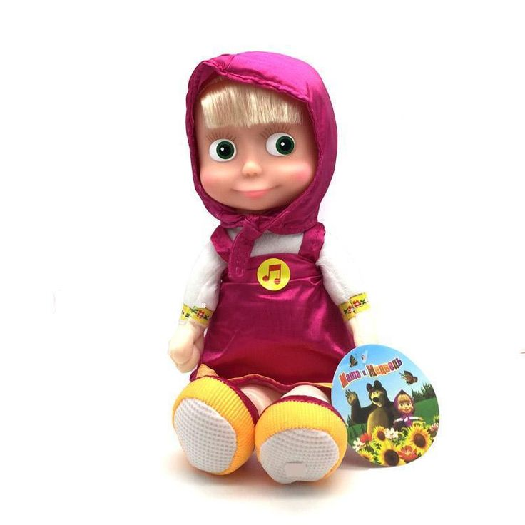Masha and the Bear SOFT TOY MASHA sings and talks. 22 СM Masha doll toys #New