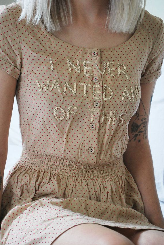 Hand-Embroidered Dress by lindsaybottos on Etsy
