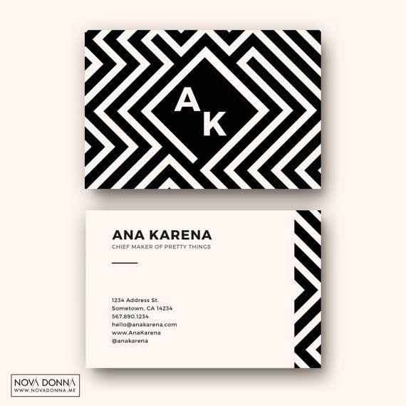 Business Card Templates Design   Customizable Adobe Photoshop Format   Maze Pattern, African, Modern