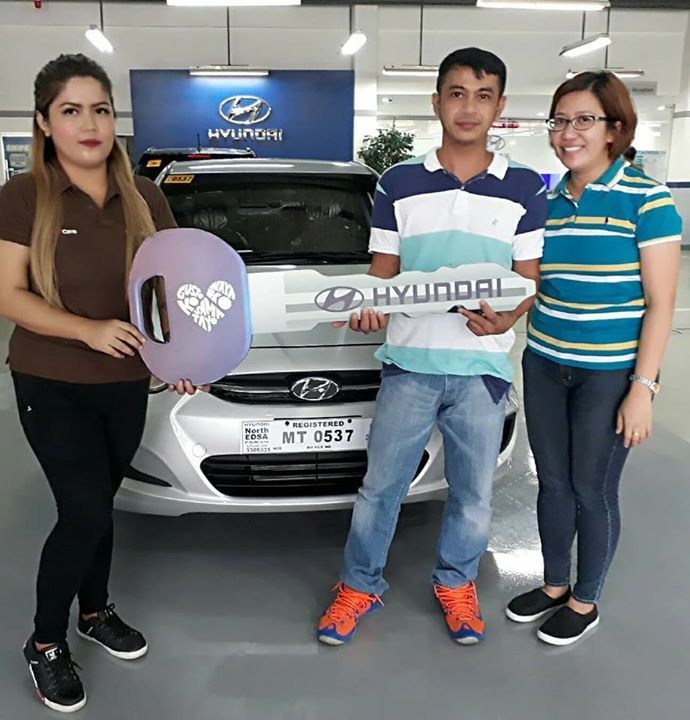 Another proud Hyundai vehicle delivery!  Thank you so much Mr.Leo Santos and Mrs.Teresa Santos for purchasing 2017 Hyundai Accent 1.4L E 6MT and for choosing me as your trusted sales agent. ☺ Salamat po sa napaka-smooth na transaction! Congratulations po and welcome to Hyundai North Edsa family! ❤❤❤ Thank you din po boss Harvey Delos Santos 😊  #Pahabol #Happy&SatisfiedCouple #HappySelling #TeamHDS #MoreBlessingsPlease #ThankyouLord  For inquiries or interested applicants, call or text…