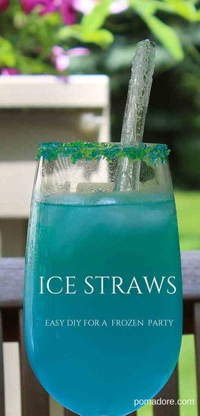 You just can't have a Frozen Birthday Party without a little ice, right? Learn how to make Ice Straws!