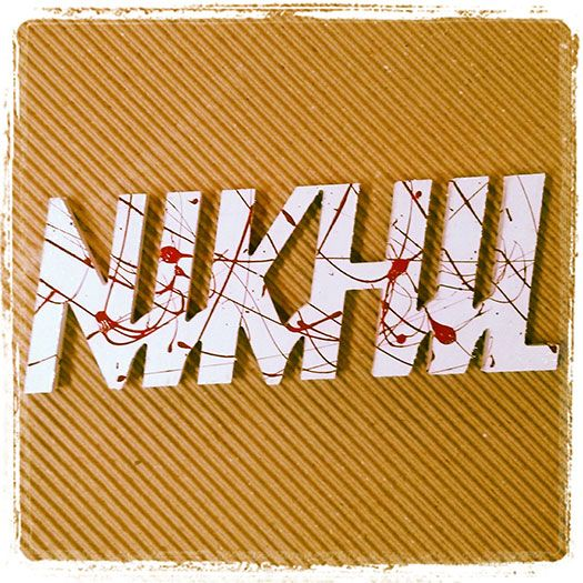 Dexter - Name Plates - Wooden Cut Outs - Fans of the TV Series Dexter will recognize this signature font and blood splatter technique. Looks killer, doesn't it? Give it a shot. Give your name board a touch of Dexter. You know you want to. checkout @ http://engrave.in/products/name-plates/name-cutouts/dexterity-name-plate