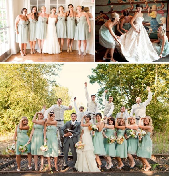 Please Help Me Find Bridesmaid Dresses! :  wedding aqua blue bridesmaid chiffon dress green jcrew 1 summer wedding Dresses